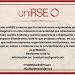 Comunicación Responsable desde uniRSE - COVID19