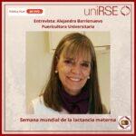 Alejandra Barrionuevo en uniRSE - Semana de la Lactancia Materna