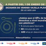 Carrefour amplía su bazar eco-amigable y retira de sus góndolas la vajilla plástica de un solo uso