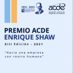 ACDE presentó la edición XIII del Premio ACDE Enrique Shaw