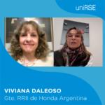 Viviana Daleoso, Gerente de RRII de Honda Argentina en uniRSE TV